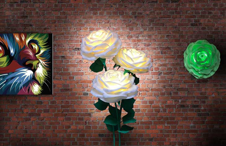 Светильник-цветок